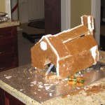 Transforming Gingerbread House Before Candy