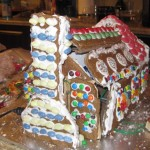 Transforming Gingerbread House Completed Rear View